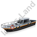 Rescue Lifeboat Black Icon, PNG/ICO, 128x128