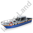 Rescue Lifeboat Blue Icon, PNG/ICO, 128x128