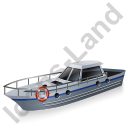 Rescue Lifeboat Grey Icon, PNG/ICO, 128x128