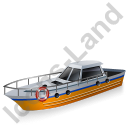 Rescue Lifeboat Yellow Icon, PNG/ICO, 128x128