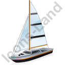 Sailboat Black Icon, PNG/ICO, 128x128