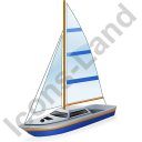 Sailboat Blue Icon