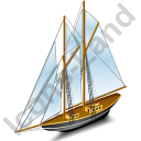 Sailing Ship Black Icon