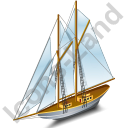 Sailing Ship Grey Icon, PNG/ICO, 128x128