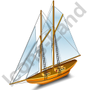 Sailing Ship Yellow Icon