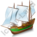Schooner Green Icon