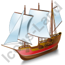 Schooner Red Icon