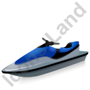 Water Motorcycle Blue Icon, PNG/ICO, 128x128