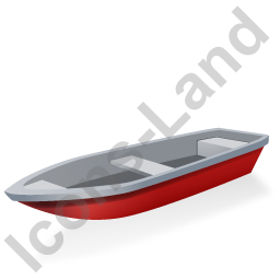 Boat Red Icon, PNG/ICO, 256x256