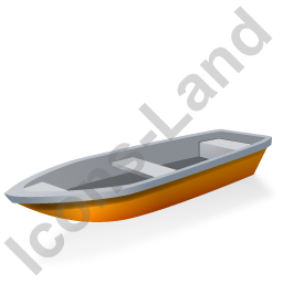 Boat Yellow Icon, PNG/ICO, 256x256