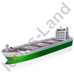 Bulk Carrier Green Icon