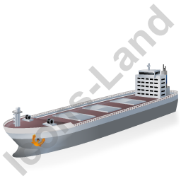 Bulk Carrier Grey Icon, PNG/ICO, 256x256