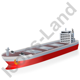 Bulk Carrier Red Icon, PNG/ICO, 256x256