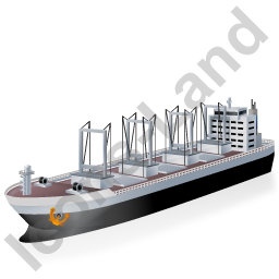 Cargo Ship Black Icon