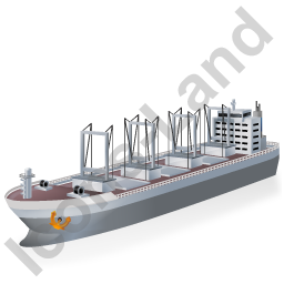 Cargo Ship Grey Icon, PNG/ICO, 256x256