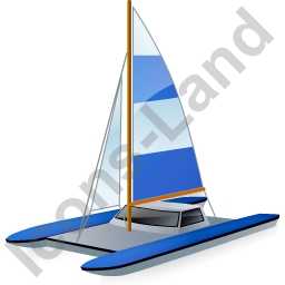 Catamaran Blue Icon