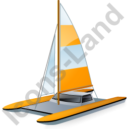 Catamaran Yellow Icon
