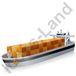 Container Ship Black Icon, PNG/ICO, 256x256