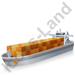 Container Ship Grey Icon, PNG/ICO, 256x256