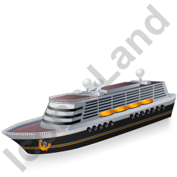 Cruise Ship Black Icon