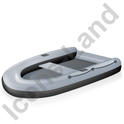 Inflatable Boat Black Icon