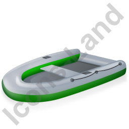 Inflatable Boat Green Icon