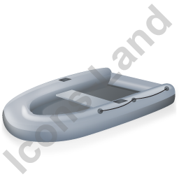 Inflatable Boat Grey Icon