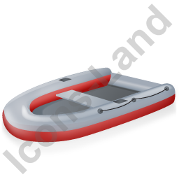 Inflatable Boat Red Icon, PNG/ICO, 256x256