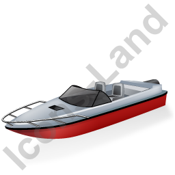 Motorboat Red Icon, PNG/ICO, 256x256