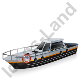 Rescue Lifeboat Black Icon, PNG/ICO, 256x256
