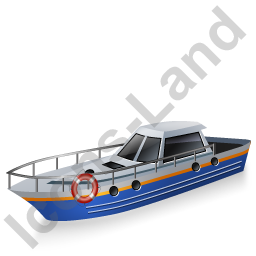 Rescue Lifeboat Blue Icon, PNG/ICO, 256x256