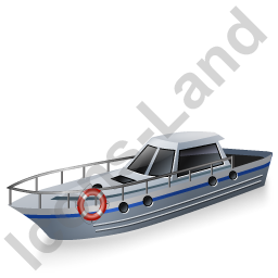 Rescue Lifeboat Grey Icon, PNG/ICO, 256x256
