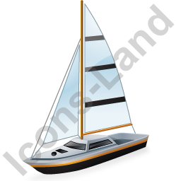 Sailboat Black Icon, PNG/ICO, 256x256