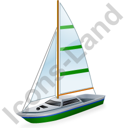 Sailboat Green Icon