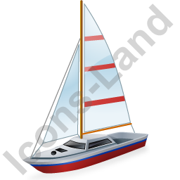 Sailboat Red Icon