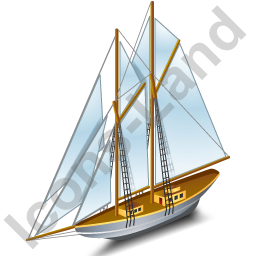 Sailing Ship Grey Icon, PNG/ICO, 256x256