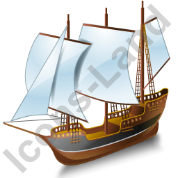 Schooner Black Icon
