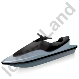 Water Motorcycle Black Icon, PNG/ICO, 256x256