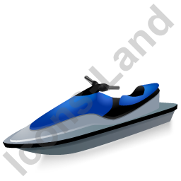 Water Motorcycle Blue Icon, PNG/ICO, 256x256