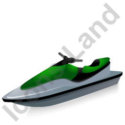 Water Motorcycle Green Icon, PNG/ICO, 256x256