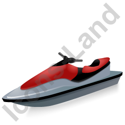 Water Motorcycle Red Icon, PNG/ICO, 256x256