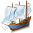 Schooner Blue Icon