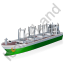 Cargo Ship Green Icon