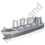 Cargo Ship Grey Icon, PNG/ICO, 64x64