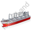 Cargo Ship Red Icon