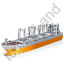 Cargo Ship Yellow Icon, PNG/ICO, 64x64
