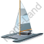Catamaran Grey Icon