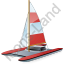 Catamaran Red Icon
