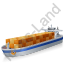 Container Ship Blue Icon