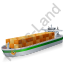 Container Ship Green Icon, PNG/ICO, 64x64